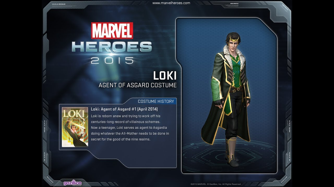 Marvel Heroes Loki Agent Of Asgard Costume Youtube