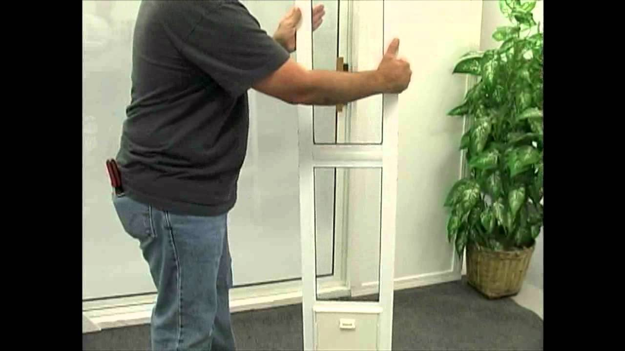 Installing The Modular Aluminum Patio Door By Idea Pet
