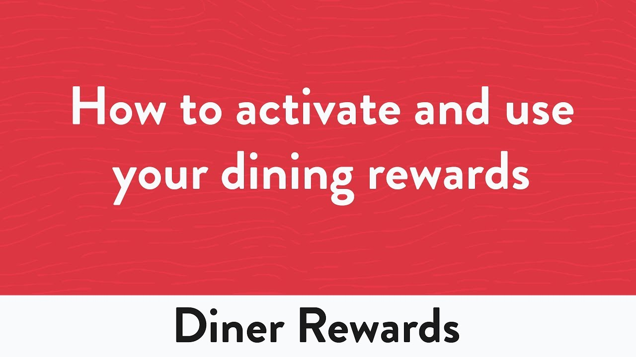 How To Activate And Use Your Dining Rewards Youtube