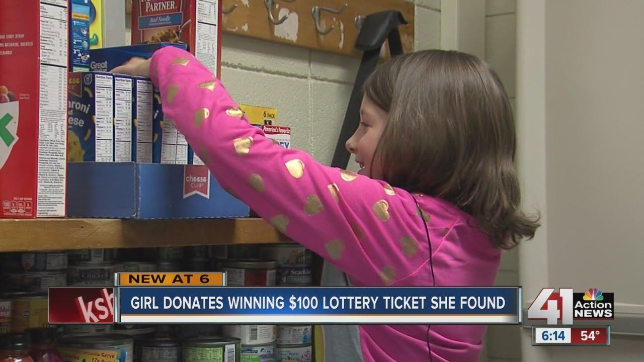 Student gives winning lotto ticket to food drive