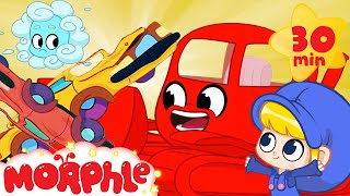 Bulldozer Morphle & Atmo - Mila and Morphle | +Vehicles & Animals | Cartoons for Kids | Morphle TV