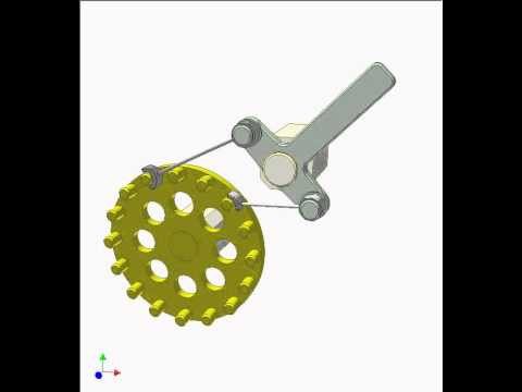 Ratchet Mechanism Of Pin Gear 2 Youtube