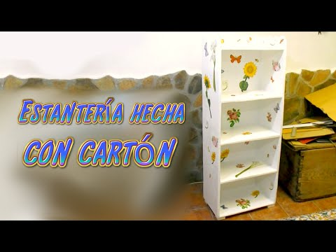 Tutorial mueble estanter a hecha de cart n manualidades for Fabricar zapatero