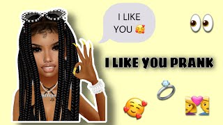 IMVU MOBILE // I LIKE YOU PRANK (KINDA FUNNY) 👀😍😂
