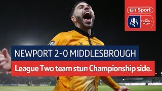 Newport County vs Middlesbrough (2-0) | Emirates FA Cup Highlights