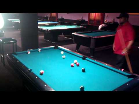 Playing pool with keith