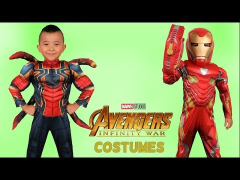 Disney Marvel Infinity War Iron Spider Iron Man Costumes Fun With Ckn Toys