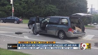 Hit-and-run leaves four children hurt