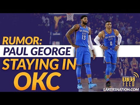 LATEST: Paul George Staying With Thunder, Who Lakers Could Turn To Instead