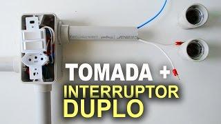 Instalação de Interruptor Duplo com Tomada - Passo a passo!