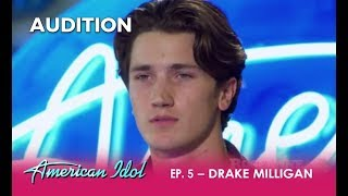 Drake Milligan: Young Actor & ELVIS Impersonator WOWS The Judges! | American Idol 2018 thumbnail