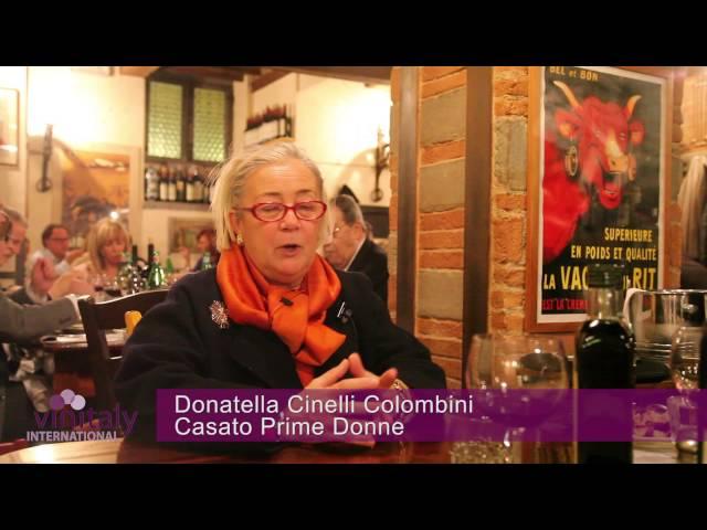 Vinitaly International - intervista a Donatella Cinelli Colombini - Casato Prime Donne