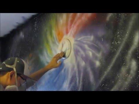 Spray paint art: room pt 1