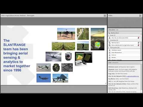 e-Agriculture Learning Activity on Drones: Airborne Agriculture Analytics with Matthew Barre