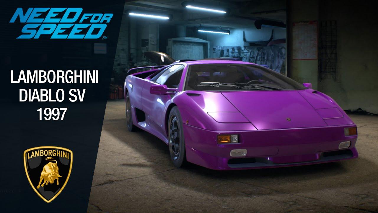 Need For Speed 2015 Lamborghini Diablo Sv 1995 Youtube