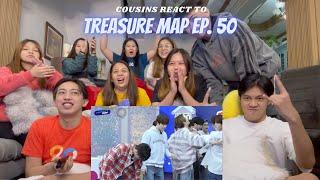 COUSINS REACT TO [TREASURE MAP] EP.50 🎉 랜선 축제! 회식 3차 텐션으로 모십니다 🎉 트맵 오락관