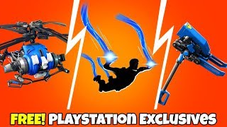 NEW! FREE Playstation Cosmetics LEAKED..! (Coaxial Blue, Blue Fusion) Fortnite Battle Royale