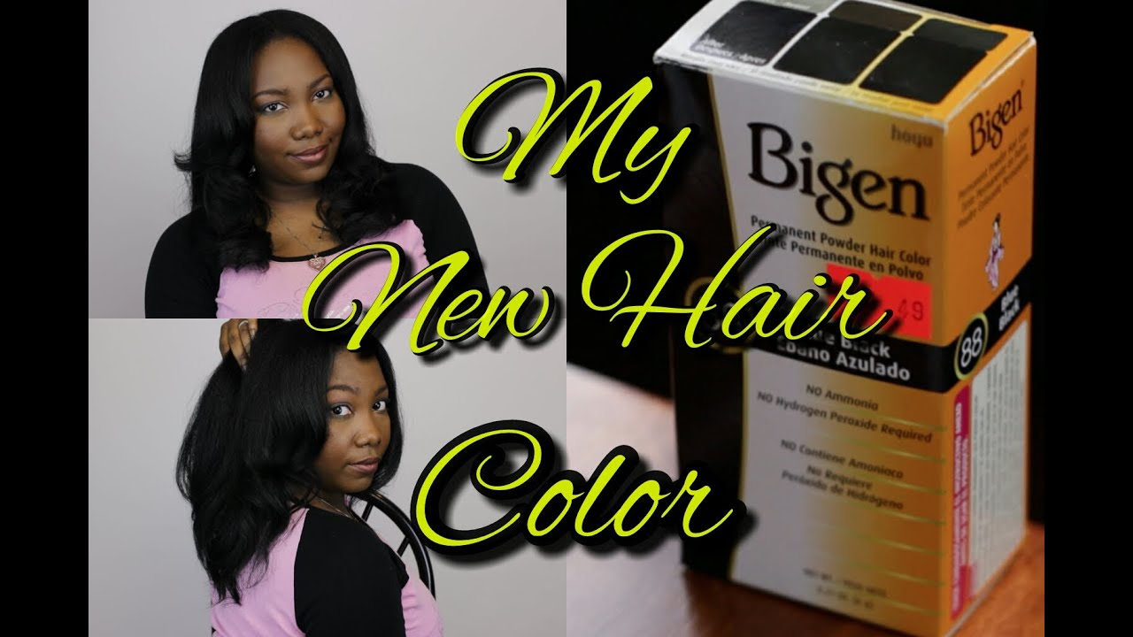 Coloring My Hair Using Bigen Semi Permanent Hair Color Youtube