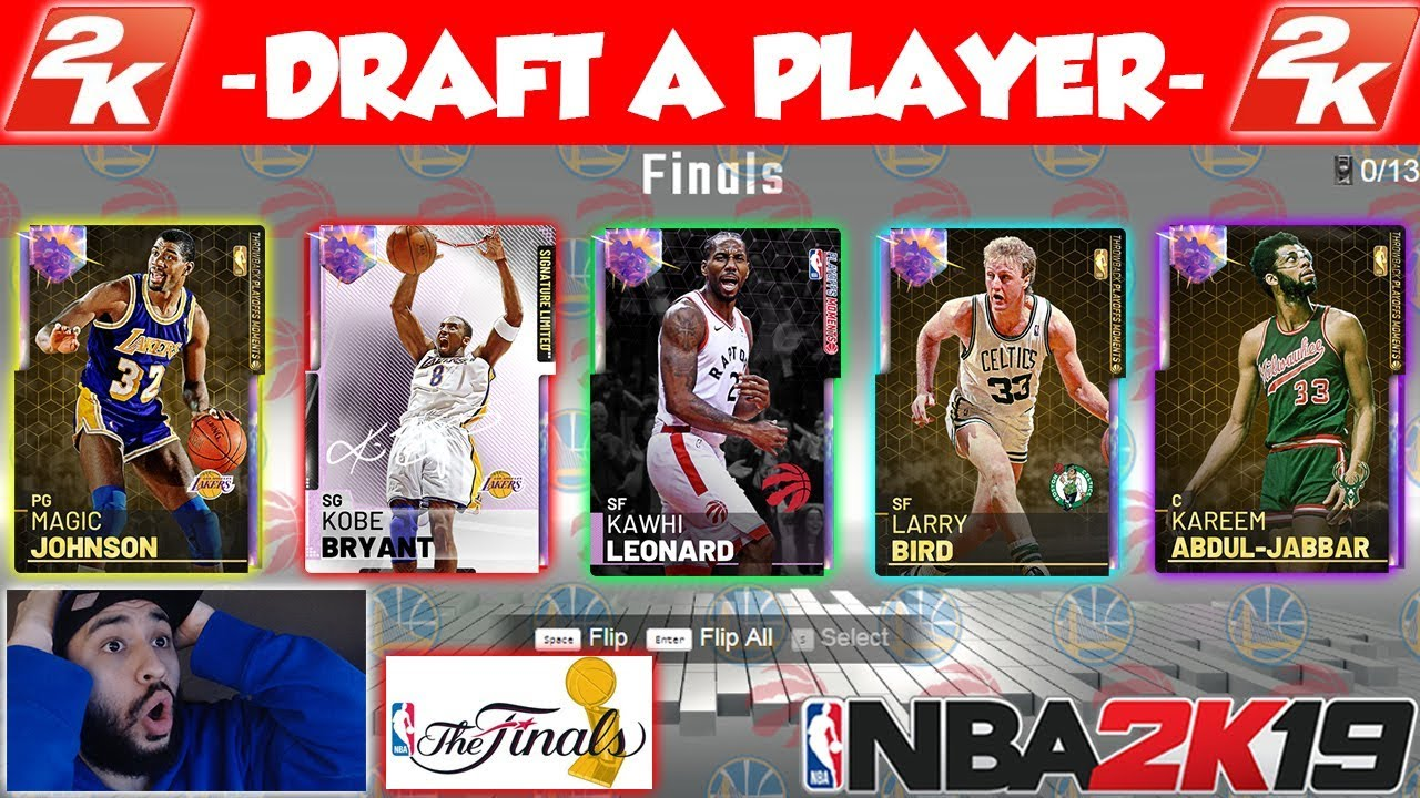 Nba 2k19 Draft If I Don T Draft A 98 Ovr Draft I Give Away 5 Galaxy Opals In Myteam Youtube