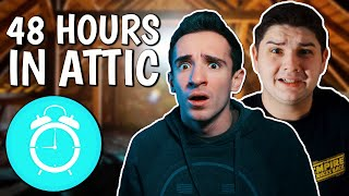 48 HOUR OVERNIGHT CHALLENGE IN ATTIC!