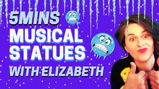 ❄FREEZE DANCE❄MUSICAL STATUES❄WITH STOPS 5MINS❄