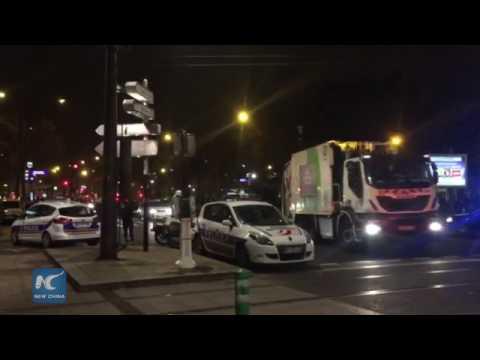 RAW: Paris travel agency robbery scenes