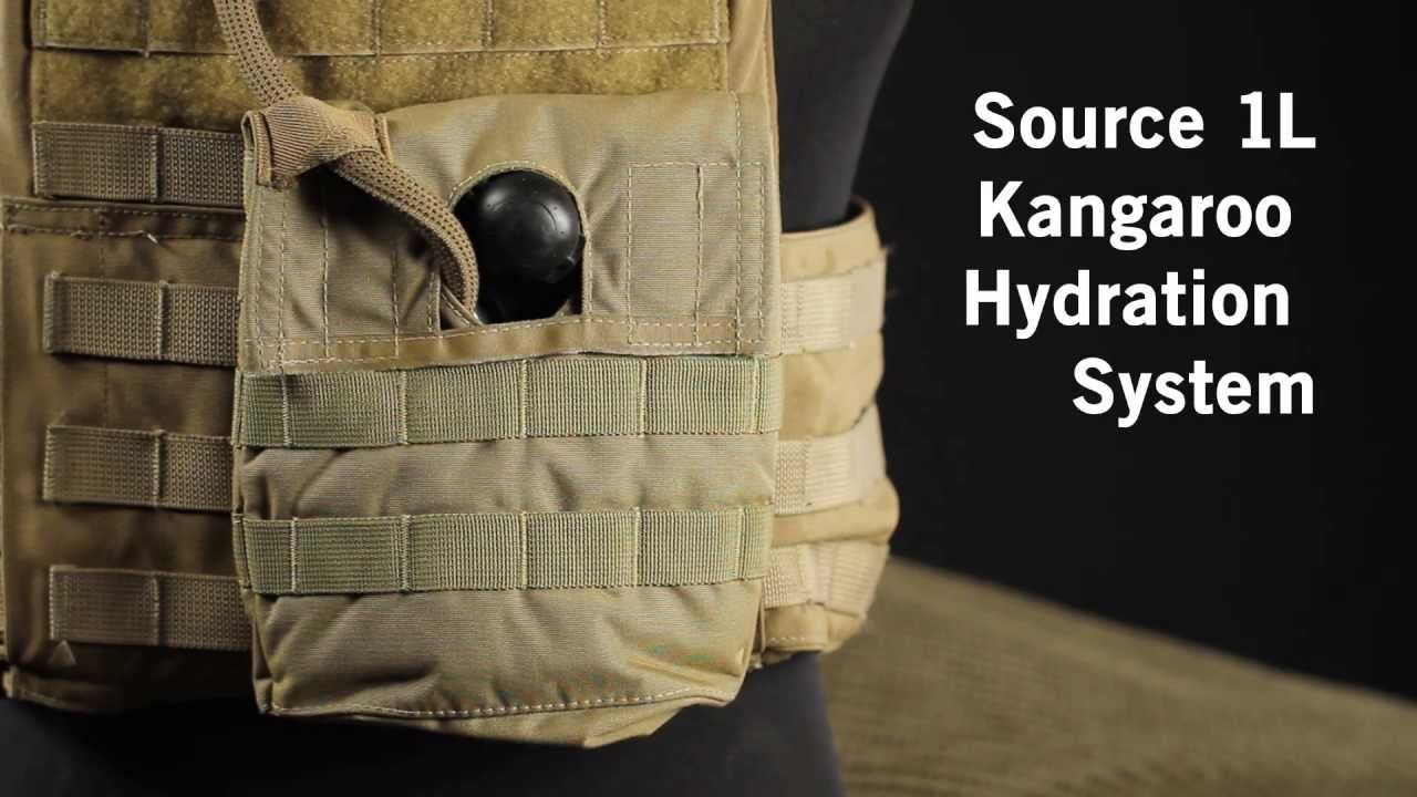 GI Tactical  Source Kangaroo 1L Hydration Bladder with MOLLE Pouch  YouTube