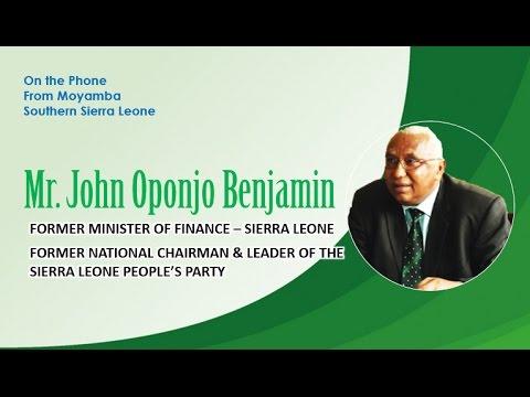 SBN SPEAKS TO MR. JOHN OPONJO BENJAMIN