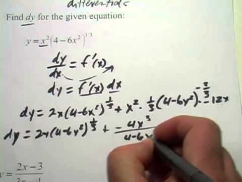 Calculus: Finding Differentials of Functions
