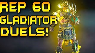 For Honor: NEW SULFURIC SPARKS DUELS! REPUTATION 60 GLADIATOR DUELS! HIGH LEVEL GLADIATOR!
