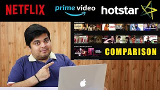 Netflix vs Amazon Prime Video vs Hotstar Review & Comparison | GIVEAWAY