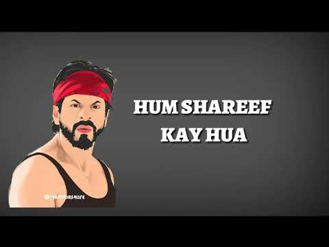 Hum Shareef Kya Huye Dialogue By SRK | WhatsApp Status | Official | Dilwale | 2018