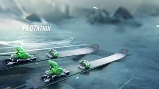 Демонстрационный ролик о уникальной конструкции фрирайдовых лыж HEAD KORE