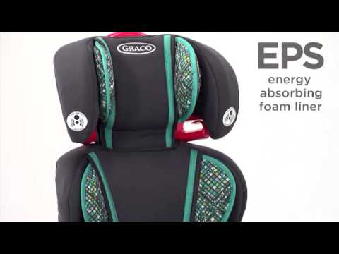 graco highback turbobooster car seat go green youtube. Black Bedroom Furniture Sets. Home Design Ideas