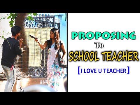 PROPOSING TO SCHOOL TEACHER GONE WRONG  TELUGU PRANKS   DREAMBOY'S 50th PRANK   DREAMBOY JAYSURYA
