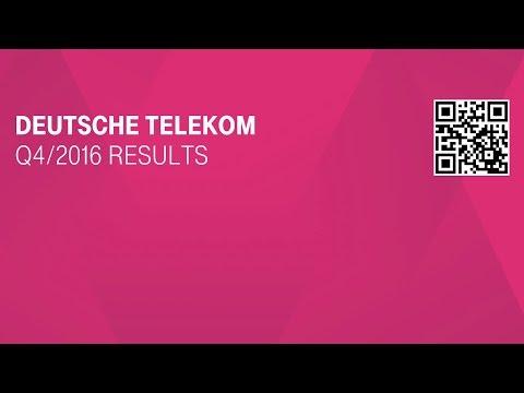 Deutsche Telekom's FY-2016 investor conference call