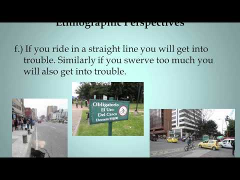 2014 Brown Bag Lecture Series: Getting Around Bogotá by Bicycle: Some Ethnographic Reflections