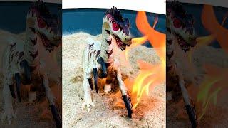 Jurassic World Raptor Toy 🔥 ON FIRE 🔥  #Shorts #JurassicWorld