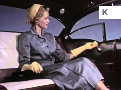 Cars And Models 1940s-1970s, Vintage Style, Kinolibrary Archive Footage