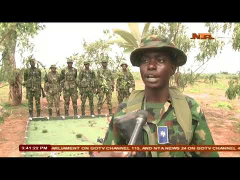 14 Special Women Battalion of the Nigerian Army Womens Corp Fire Power Demonstration