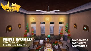 Tutorial Mini World Block Art : How To Make A Ceiling Fans // Electric Fan V.2