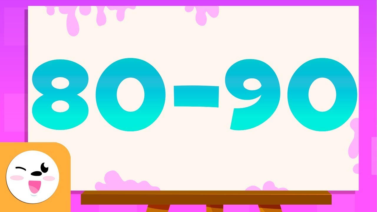 Guess the numbers from 80 to 90 - Learn to read and write ...