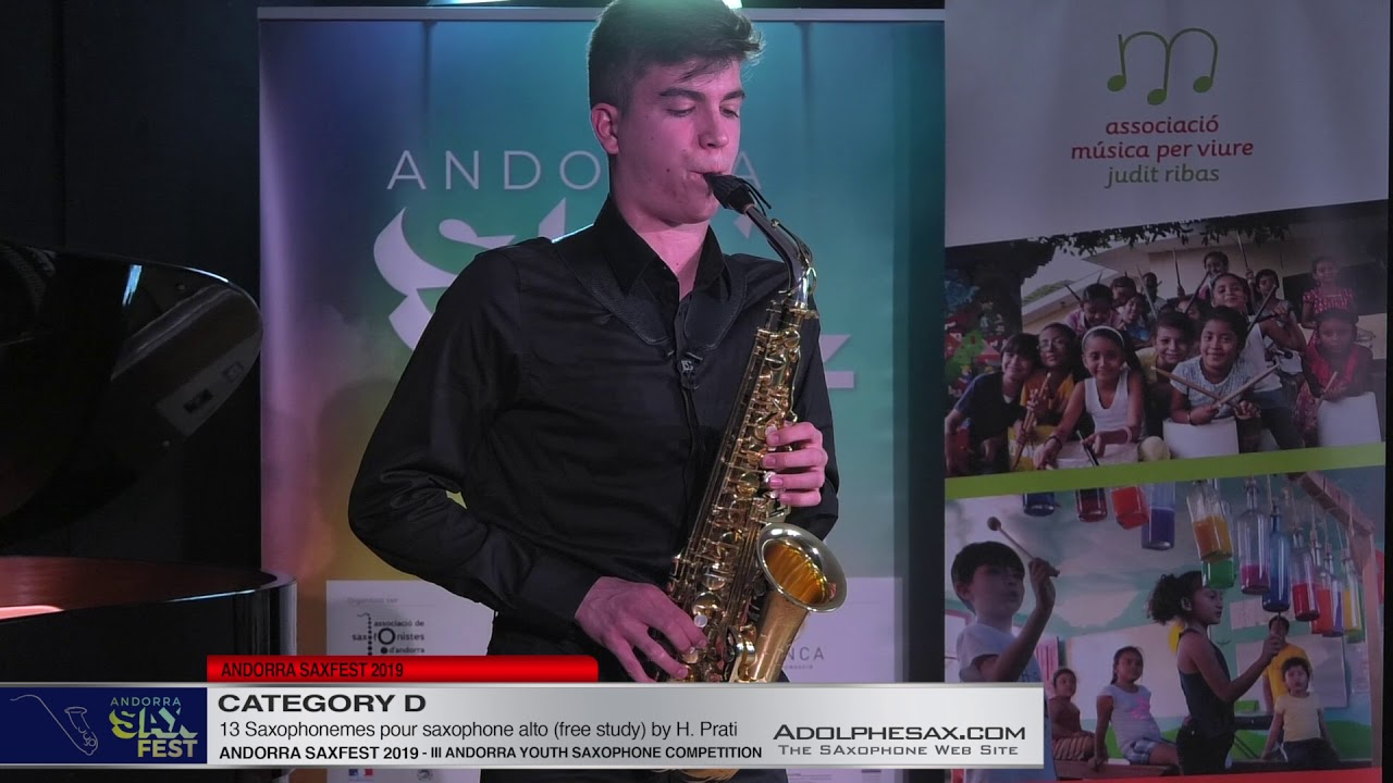 Andorra saxfest 2019 – Youth Saxophone Competition – Vicent Oro?n Bolo?s – 13 Saxophonemes