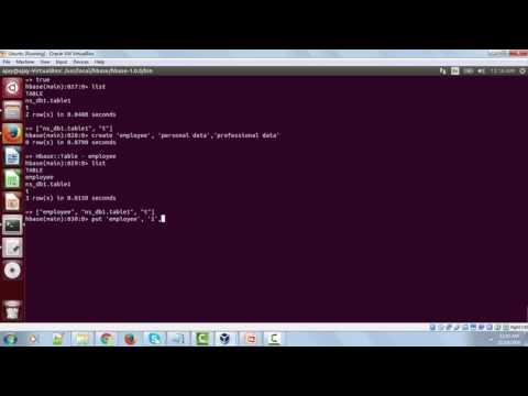 HBase CreateTable and Insert data on Ubuntu