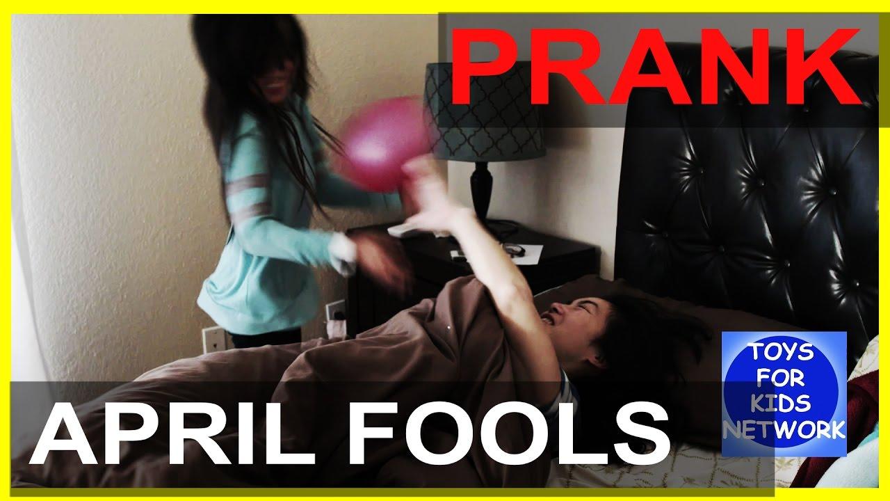 Teen adult prank april fool licking