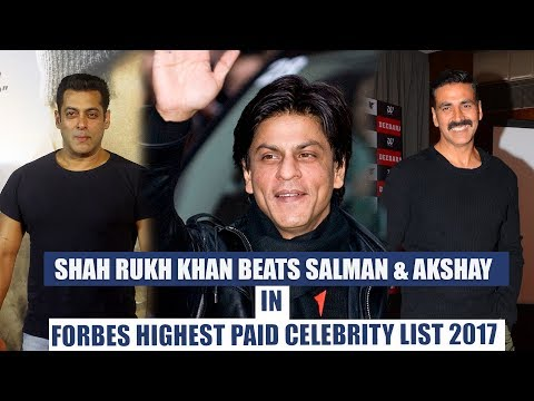Shahrukh khan beats Salman, Akshay in Forbes' World's highest paid celebs list 2017 | Pinkvilla Mp3