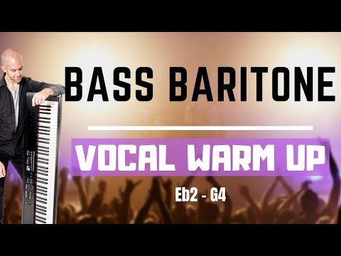 Bass Baritone Vocal Warm Up - 8 Singing Exercises For Guys