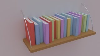 Create Books For Bookshelves Within Seconds! Blender 2.73 (easy )
