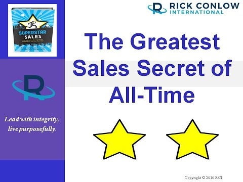 The Greatest Sales Secret of All Time