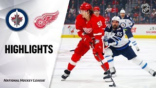 NHL Highlights | Jets @ Red Wings 12/12/19